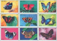 Aruba Vlinders postzegels